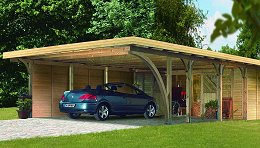carports holz carport. Black Bedroom Furniture Sets. Home Design Ideas